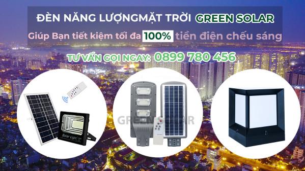 Đèn năng lượng mặt trời ánh sáng tái tạo mang đến nhiều lợi ích thiết thực !